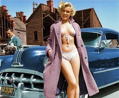 Marilyn and her 1952 Pontiac