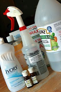 Some great homemade cleaning supplies!