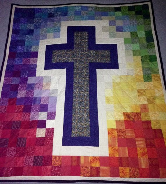 Christian Cross Pattern Quilted Cross Pattern ...