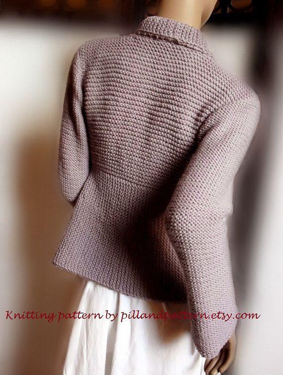 Modello di giacca giacca maglia PDF maglieria di PillandPattern