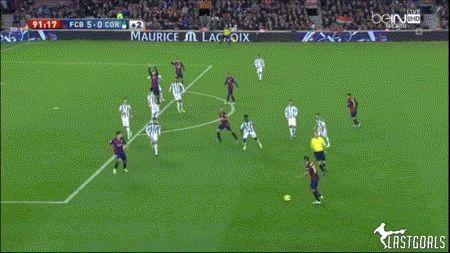 Lionel Messi's Wonder Finish against Cordoba | Barca Images GIF