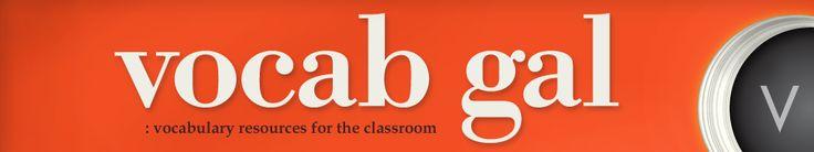 vocab activities for all grade levels #vocabgal