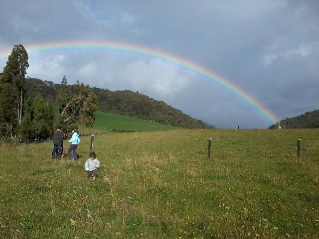 Un gran arco iris... de esos que pocas veces se ven tan bien