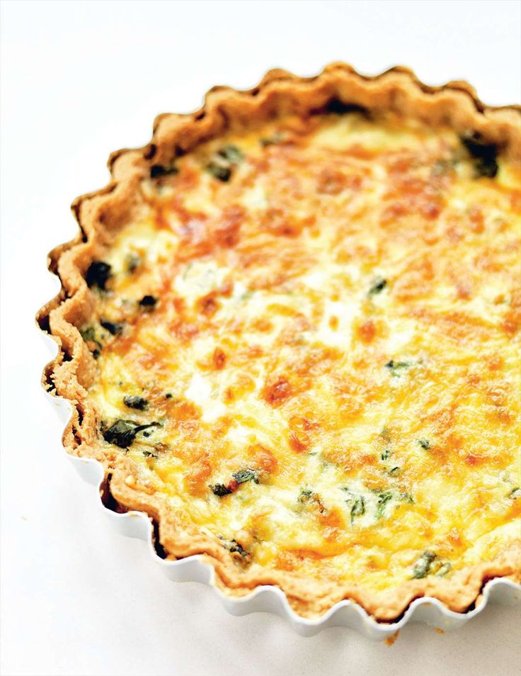 Leek, spinach & gruyère tart with spelt pastry from Grains | Cooked