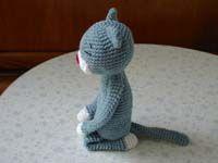 だらだらあみぐるみ猫「まいど」の編み図                                                       …