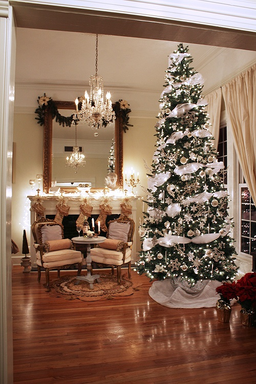 pretty french xmas decor 12 ft tree - 12 Foot Christmas Tree