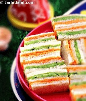 Tricolor sandwiches(indian)