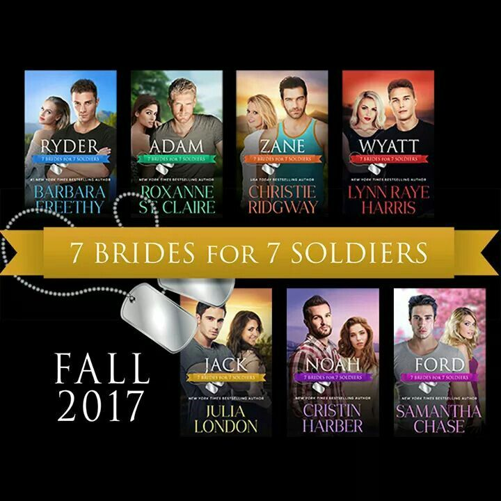 Can't wait to get my hands on all of the 7 books! Fall in love with seven #sexy and #irresistible #soldiers who find their courage and heart tested like never before in the battle for love!  Barbara Freethy Books, Roxanne St. Claire, Christie Ridgway, Lynn Raye Harris - Official Fan Page, Julia London, Cristin Harber and Samantha Chase.   ktcastle.wordpress.com/?p=4588 InkSlinger PR  #contemporary #romance #multiauthor  #7soldiers7brides #Navy