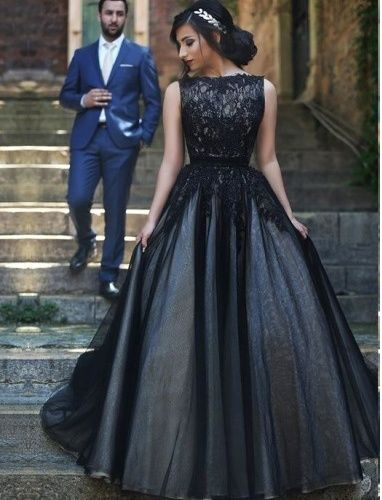 Black Lace Prom Dress,Long Prom Dresses,Charming Prom Dresses,Evening Dress Prom…