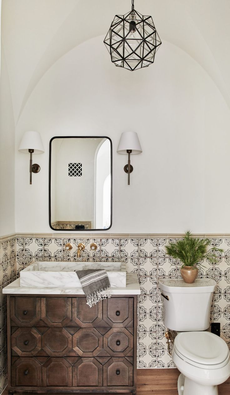 Client What S The Story Spanish Glory All Sorts Of Spanish Style Bathrooms Spanish Revival Home Spanish Style Home
