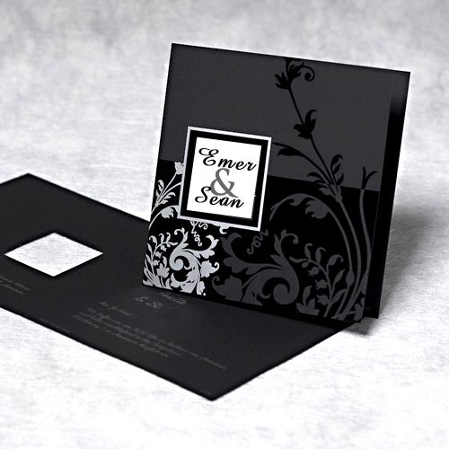 black Wedding Invitations -  Bing