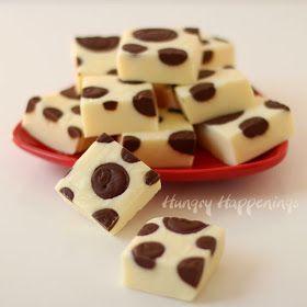 Polka Dot Fudge | HungryHappenings.com