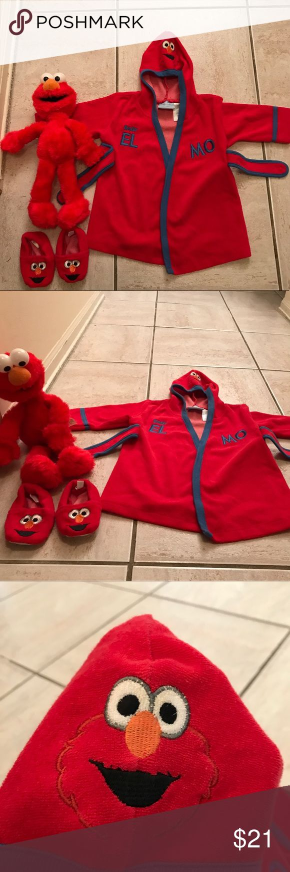 Best 25 elmo doll ideas on pinterest creepy stuff spooky infant elmo robe and slippers bankloansurffo Gallery
