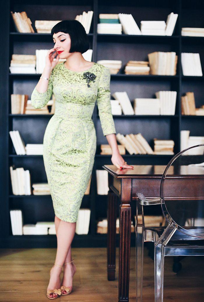 Ana Morodan wearing a Simona Bejan dress and Smiling Shoes heels