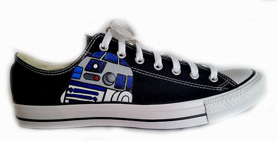 Star Wars Shoes Wedding Shoes Converse Reception by BoutiqueWhimsy