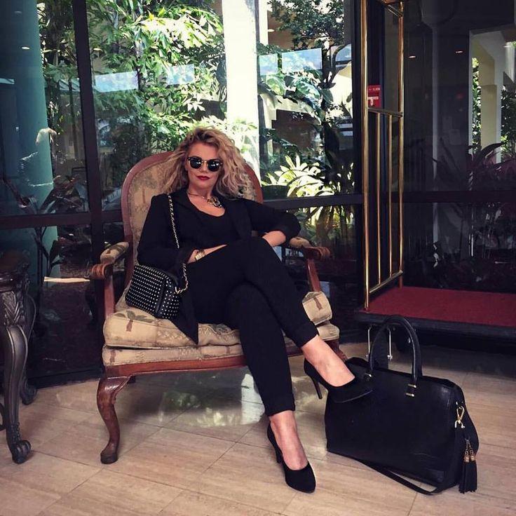 Mercedes Murat on her way to Art Boca Raton Florida