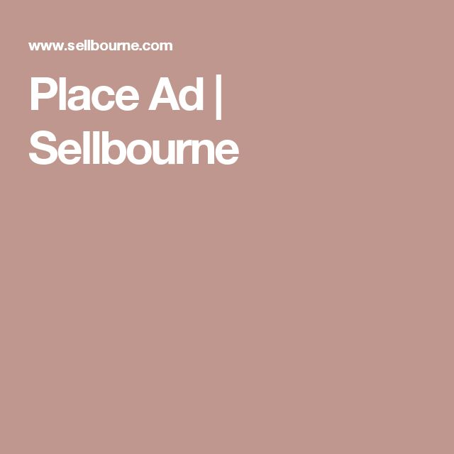 Place Ad | Sellbourne