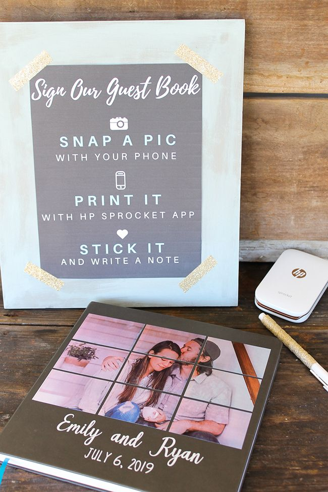 DIY Photo Guest Book for a Wedding in 2019   Wedding Ideas   Photo