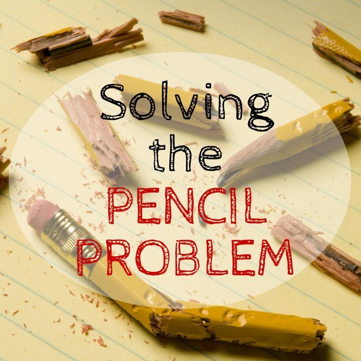 Pencil Management - Setting up procedures to minimize how many pencils you have to buy for your class!