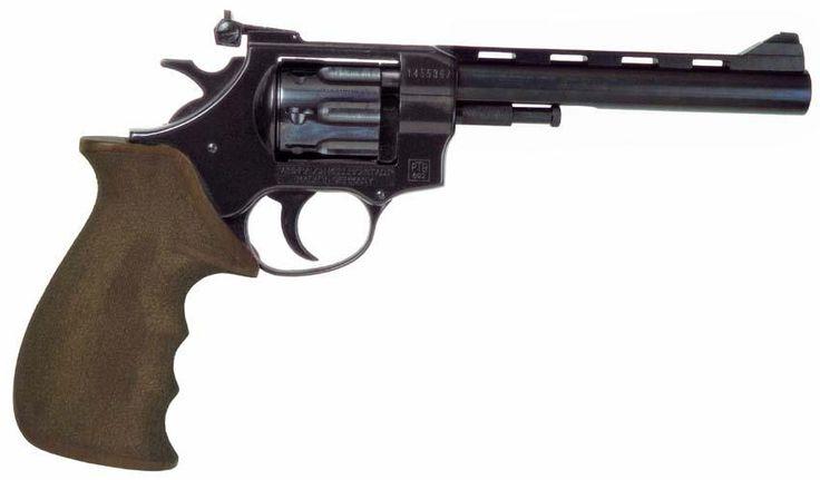 Большое основное изображение Револьверы под Флобер Weihrauch Arminius HW4T 6 чёрный дерево