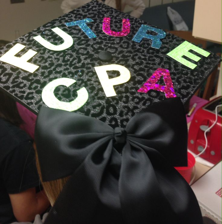 1145 best graduation cap designs images on pinterest for Accounting graduation cap decoration
