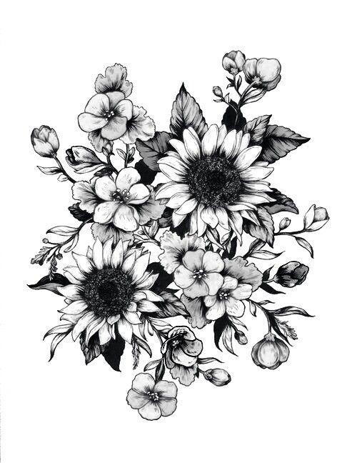 Imagem de flowers, art, and drawing