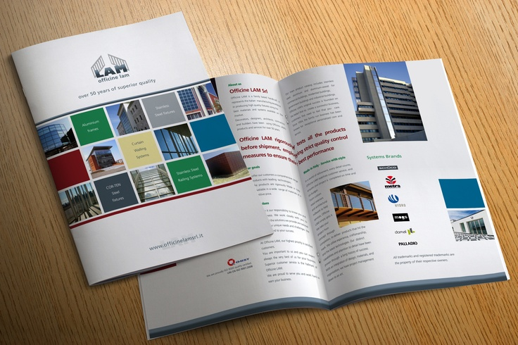 Brochure for  window manufacturer and gates company.