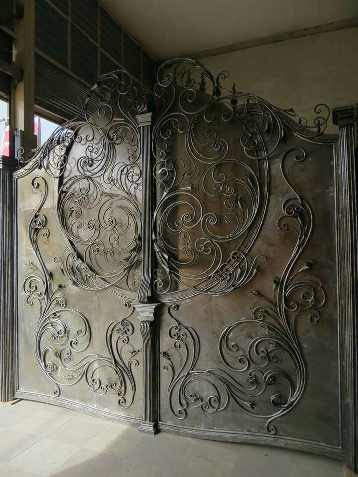 Wrought Iron driveway gate - beautiful!