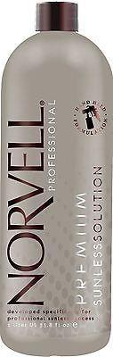 Norvell Amber Sun ORIGINAL Sunless Airbrush Spray Tan Solution, 33.8 oz Liter