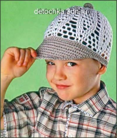 Вязаная кепка для мальчика - Вязание шапок и шарфов для мальчиков - Вязание мальчикам - Вязание для малышей - Вязание для детей. Вязание спицами, крючком для малышей