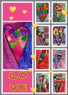 Kim & Karen: 2 Soul Sisters (Art Education Blog): Squares, Rectangles, and Hearts
