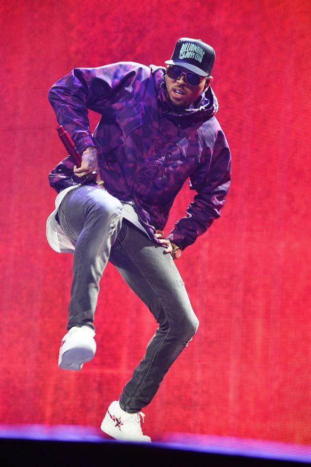 Chris Brown in Bathing Ape Bapestas