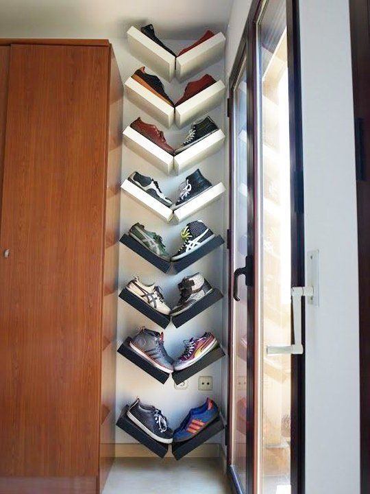 Show Off Your Style: 10 Decorative Ways to Organize Shoes & Accessories   Apartment Therapy  This idea is so clever!