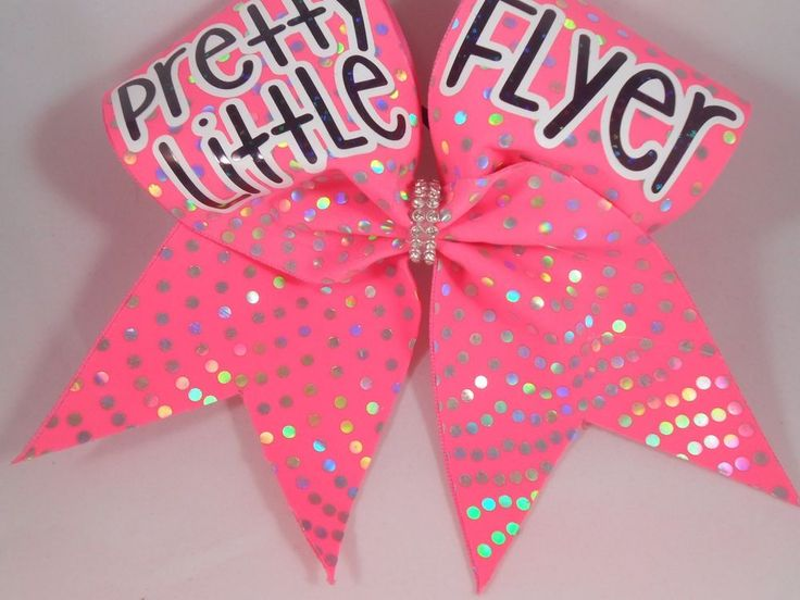 Cheer Bow Pretty Little Backspot Pink Silver by Blingitoncheerbowz | eBay