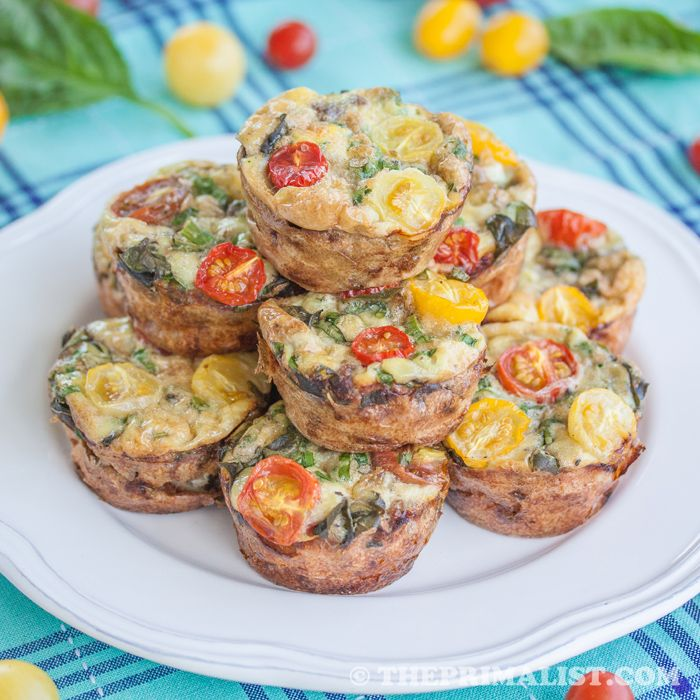 , Sausage Egg Muffins (Mini Frittatas): No flour, just savory sausage ...
