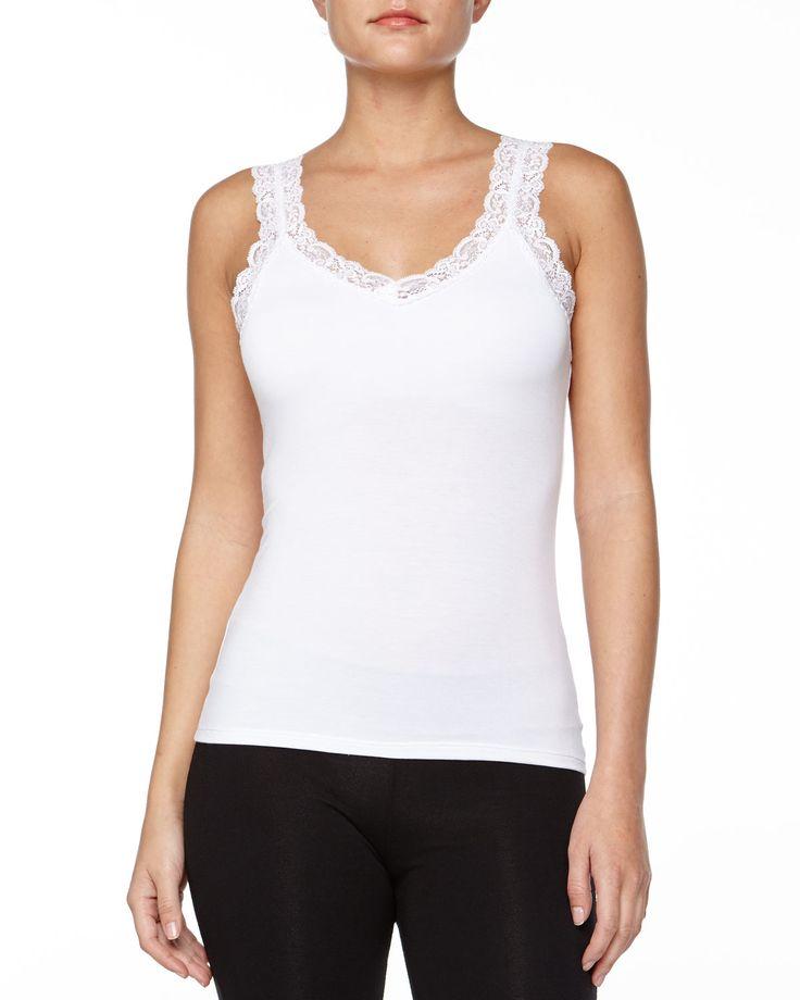 Bottom Drawer Lace Strap Camisole with Shelf Bra, Women's, Size: SMALL/MEDIUM, Heather Gray - Fleur't