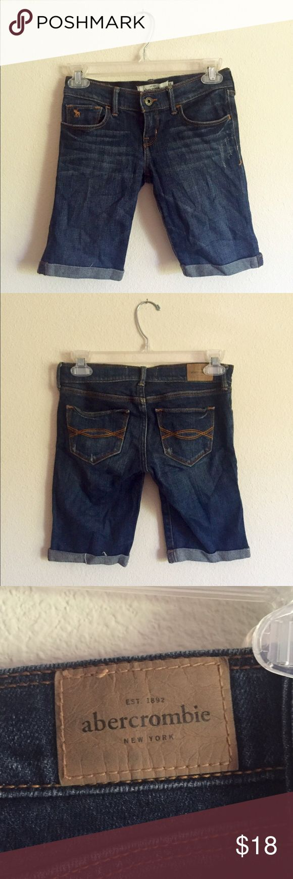 Abercrombie KIDS jean shorts - Abercrombie KIDS size 12  - has some stretch but not too much - longer length which is ideal for kids  - the quality is excellent!! personally work for Abercrombie now and these will last a LONG time ☺️  - money is going towards college   feel free to ask questions/offer Abercrombie & Fitch Shorts Jean Shorts