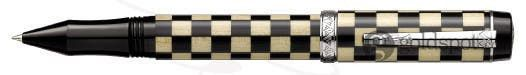 Laban Checkered Flag Black Weave Rollerball Pen