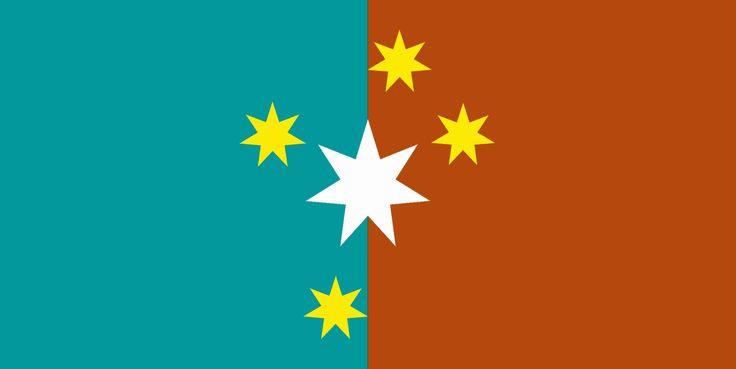 New Australian Flag Design Series   UluruSky17 New GoldSC CS TurqBlue