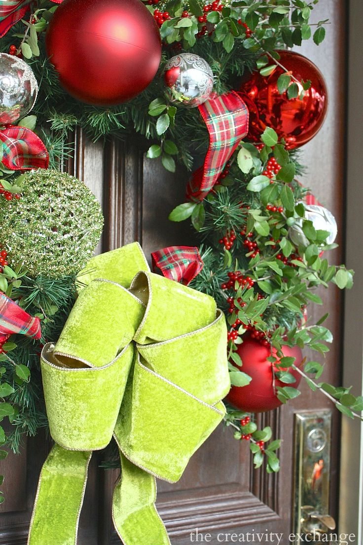 147 best christmas decorating images on pinterest merry our christmas home tour christmas front doorschristmas
