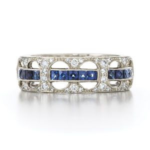 "This just may be the perfect ring I've ever found. The ""Thin Blue Line"" represented here for my <3"