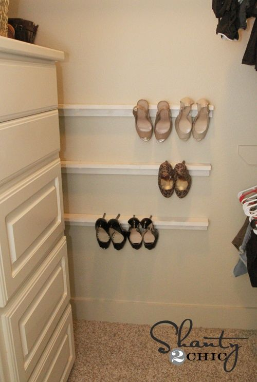 Closet Organization – Shoe Organizers DIY - interiors-designed.com