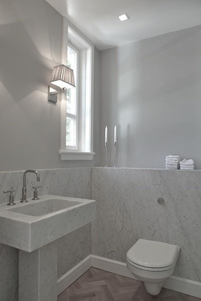www.jeysenolesen.se © : bathroom design : residential project, stockholm : (carrara marble, solid marble pedestal basin, kohler purist faucet)