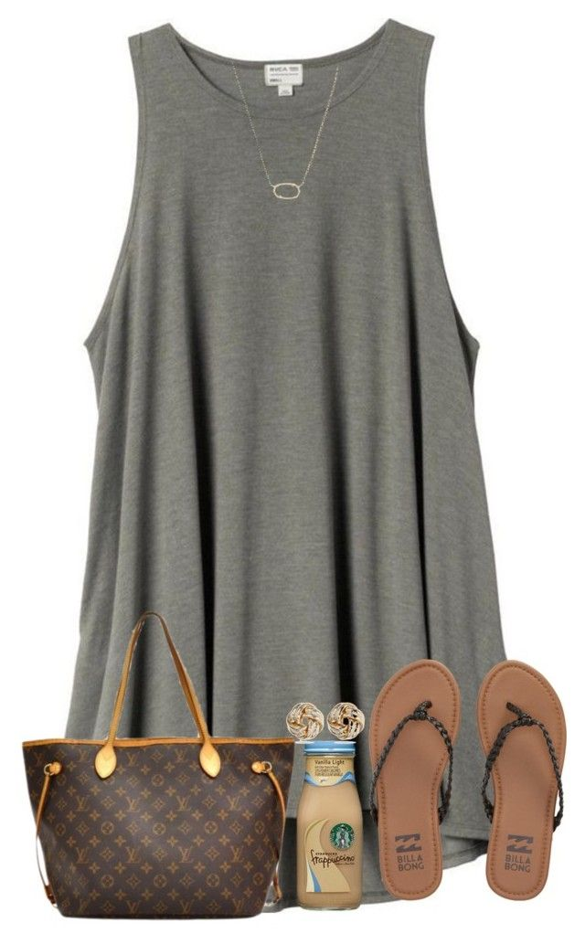 """""""So close to 600!!"""" by kyliegrace ❤ liked on Polyvore featuring beauty, H&M, Billabong, Anne Klein, Louis Vuitton and Kendra Scott"""