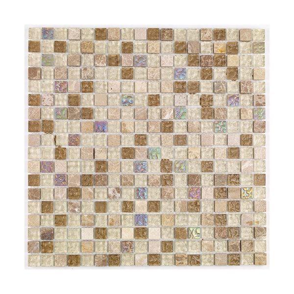British Ceramic Tile Mosaic Freckle Beige Gloss Tile 300mm X 300mm 1 Sheet Mosaic Tiles Ceramic Tiles Mosaic Decor