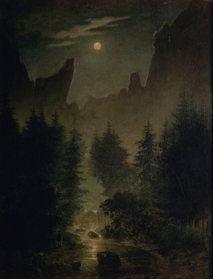 """Caspar David Friedrich (German, 1774–1840) - """"Uttewalder Grund"""", c. 1825"""