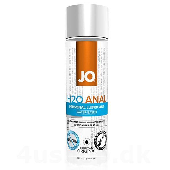JO vandbaseret anal glidecreme i 240 ml flaske - lækker anal glidecreme fra JO - godt nok vandbaseret men konsistens som en silikone glidecreme. Drøj og god glideevne til perfekt analsex #analsex #anal #glidecreme #jo #anallubricant #lubricant #h20anal