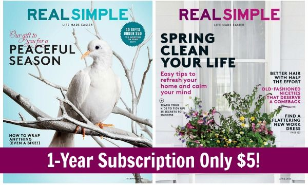 12 Issues of Real Simple Magazine Only $5.00! ($0.42/issue)