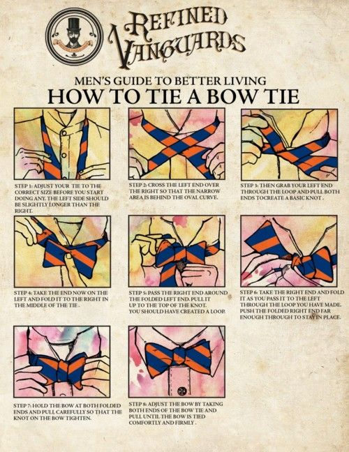 How to tie a bow tie.