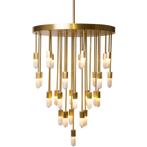 Emporium Home Quartz Falls Chandelier (6,535 CAD) ❤ liked on Polyvore featuring home, lighting, ceiling lights and quartz lamp